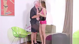 Beautiful daughter fucking with father