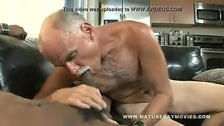 Black guy fucks a grandpa