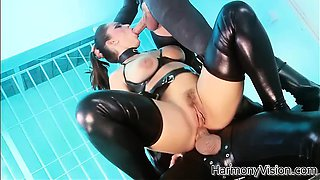 Liza loves to ride on top a black cock