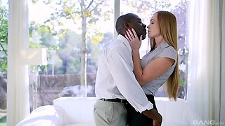 Black dude shows charming wife the right pleasures