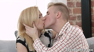 Pretty Teen Alina Blonde Makes a Handsome Photographer Cum Inside Her