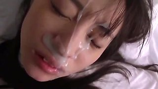 Intensive Japanese doll facial compilation 1.  (Censored)