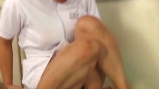 Japanese nurse gets doggie fucked