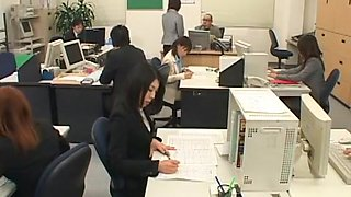 Best Japanese whore Rin Yamaki, Kana Mimura in Exotic Fetish, Office JAV scene