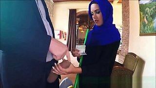 Timid Arab Takes Money For Slurping Massive Cock