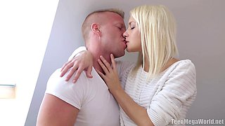 Russian teen Olivia C moans with pleasure from hard core fucking