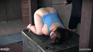 tegan trex gets a spanking