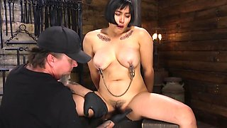 Mia Little loves BDSM and right now she is shedding tears of joy