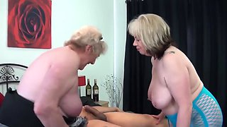 Old Sluts In Sexy Lingerie Share One Big Young Cock In A Xxx Three-way With Claire Knight