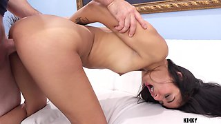 To win lots of cum horny brunette with nice booty Viva Athena gives head