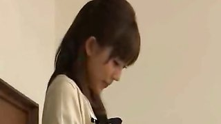 Japanese teacher reluctantly strips nude in front of