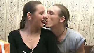 Really voracious and drunk Russian bitch gets poked mish