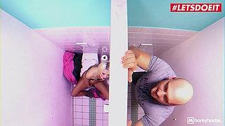 LETSDOEIT Czech Blondie Lovita Fate Takes Cock At The Toilet