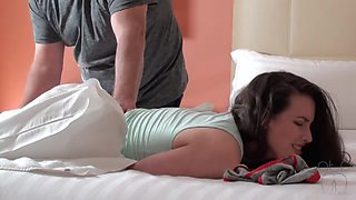Angry Dad Plugged and Paddled Daughter xLx
