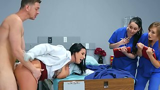 Raven-haired milf with big naturals gets banged by young stud