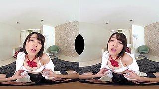 Ameri Hoshi Embarrassing Ameri-chan in her Uniform Part 1 - SexLikeReal