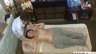 Subtitled Japanese milf has erotic lesbian oil massage