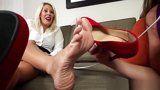 Lesbian Foot Worship Fetish Pornstar Compilation 4K