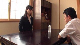 Japanese office lady Kurokawa Sumire gets her groove on at work