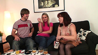 Wife watches old mother and her husband taboo sex
