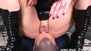 Slavery act with some hawt and rough female domination