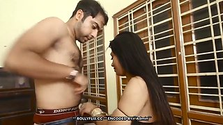 Desi cheating busty bhabhi sucking and fucked by lover in lockdown