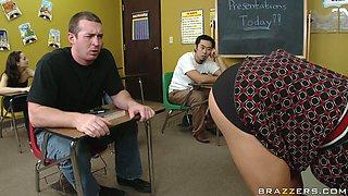 Naughty teacher Diamond Foxxx is punished by school principle