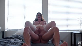 Busty bride Veronica Vain having some satisfying sex with her beloved man