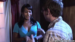 First time ebony hooker Rane Revere passionate sucking and