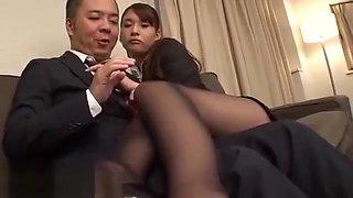 Japanese secretary nylon foot fetish sex