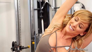 Titjob In Gym With Cherie Deville