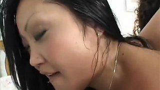Smoking hot Asian sistah Lucy Lee shags solid American member