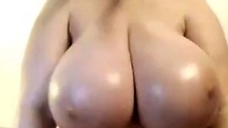 Busty Oiled Colassal Tits Jiggling