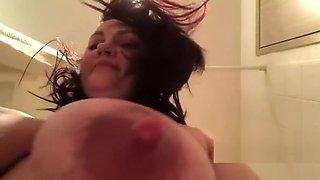 mama cabbage - big pregnant milf in bathroom