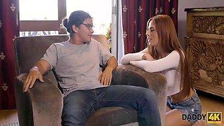 DADDY4K. Smart teen earns much needed cash by seducing her boyfriends dad