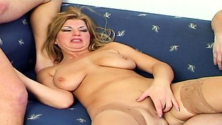 STEP SON and his Friend Seduce MOM for Defloration 3Some