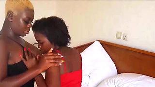 French African Lesbian Sucks Big Natural Tits