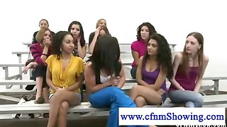 Cfnm lady being banged by a midget