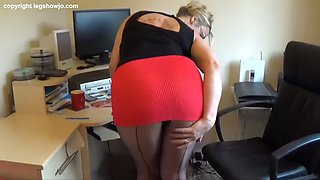milf seamed tights tease