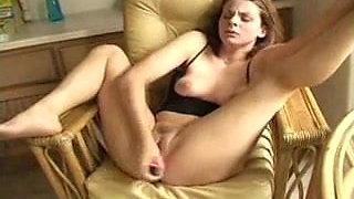 Wife Masturbating and Orgasming While Squirting