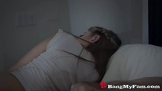 dad fucks his stepdaughter for comfort while mom sleeps