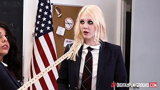horny schoolgirl deserves to be punished for her misbehavior