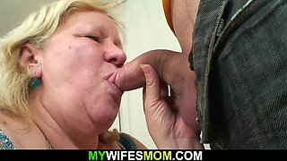 Wife caught him fucking her huge old mother