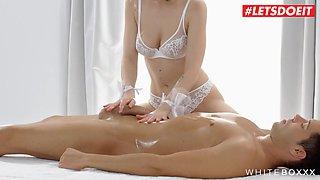 letsdoeit - hot brunette takes dick in steamy morning sex