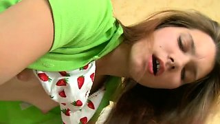 Adorable redhead russian diva gets juicy cave fucked