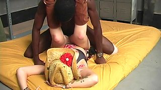 Cuckold hubby watches his slutty wife riding a black monster