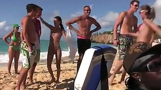 Nude beach - fisting friends