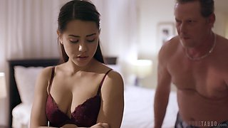 Alina's stepfather just wants to fuck her sweet tight pussy