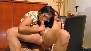 Busty secretary Jasmin pleases her boss