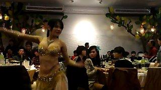 sexy asian Belly Dancer shake her slut boobs